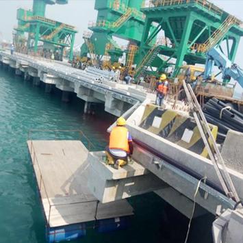 Protective Spray Concrete Jetty Serang PT-ISTAKA